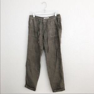 Joie Green Linen Draw String Pants